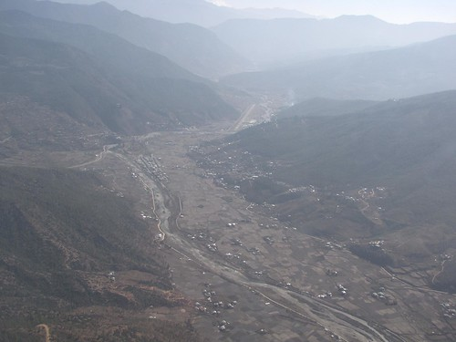 Paro Town from above 2