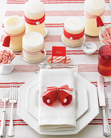 Martha Stewart Red And White Christmas Table Setting