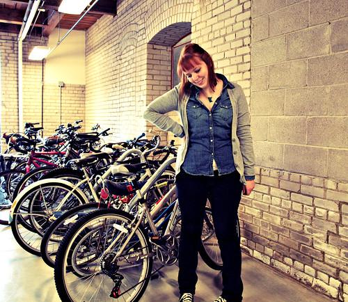 chambray shirt bikes