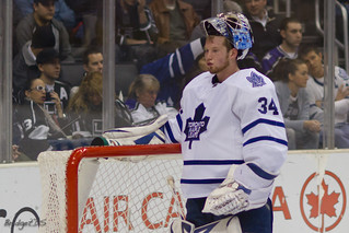 James Reimer saved 49 shots against the Ottawa Senators in a 4-1 win on April 20. (bridgetds/Creative Commons)