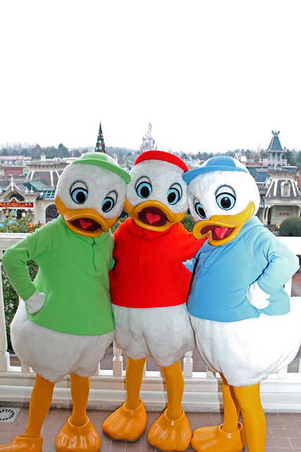 Meeting Huey, Dewey and Louie