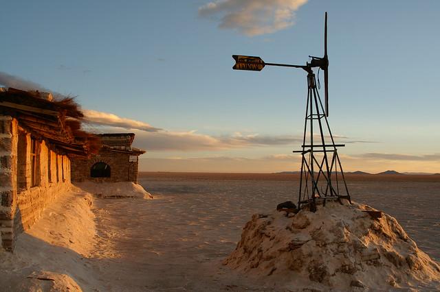 Teri Gardiner Sunset at the Old Salt Hotel - Salar De Uyuni, Bolivia