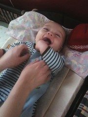 Malcolm getting tickled