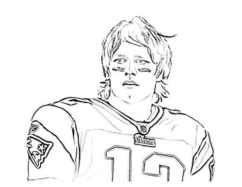 coloring pages of tom brady | Off On A Tangent: Tom Brady Coloring Page