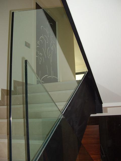 barandilla para escalera de vidrio barandilla de cristal