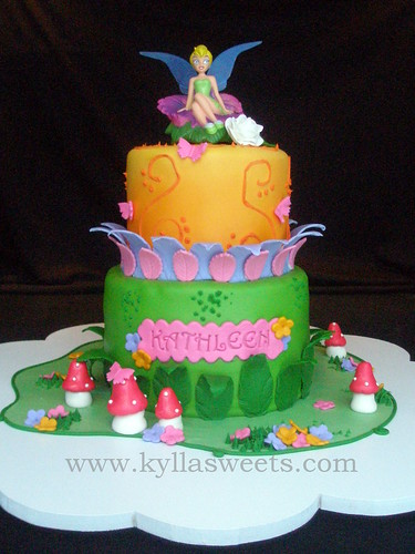 Tinkerbell cake ~~~~~~~~~~~~~ bolo Sininho | Flickr - Photo Sharing!