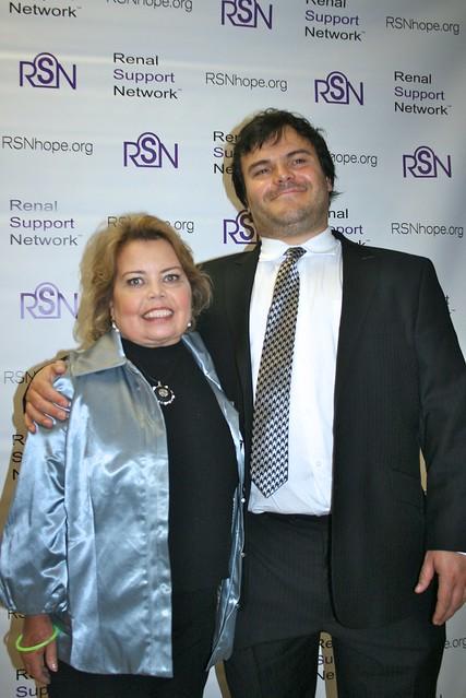 Lori Hartwell and Jack Black