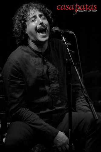 David Vázquez, al cante. Foto: Martín Guerrero