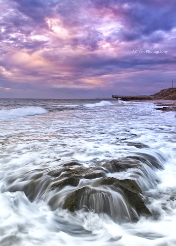 sunset sea landscape rocks surf jetty indianocean wave overcast timeexposure filter perth northbeach mauve westernaustralia trigg cokin photomatix singleshothdr nikond300s tripleniceshot afsdxzoomnikkor1755mmf28difed graduatemauve