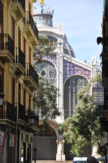 中央市場 在 巴倫西亞 附近 的形象. ceramica valencia architecture tile arquitectura ceramics iron market mercado azulejo cupula marche ceramique mercat ferro hierro rajola