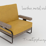 Wicker Metal Seat 3D Models