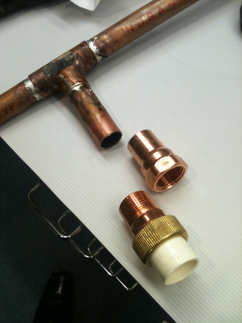 Copper to cpvc ridgid plumbing woodworking and power