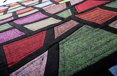 Stained Glass Tweed Table Runner