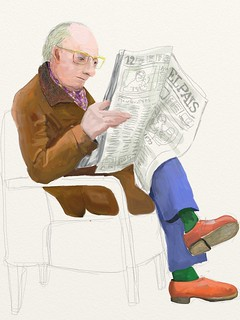 "man reading ""El Pais"""