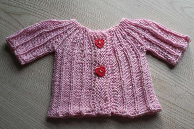 knitted :: yoked baby cardigan