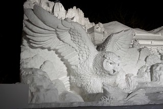 Owl Snow Sculpture