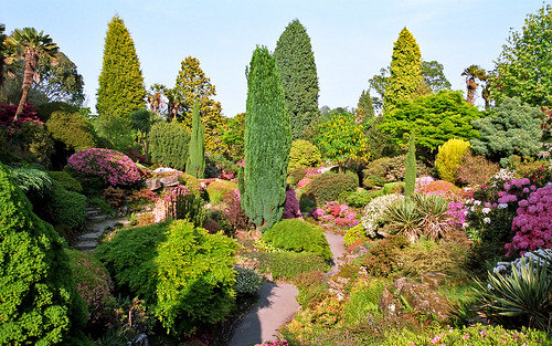 Leonardslee Gardens, Lower Beeding, West Sussex, UK, RH13 6PP | Leonardslee Rock Garden with azaleas and rhododendrons in Spring (13 of 14)