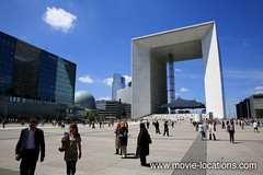 The Bourne Identity film location: La Defense, Paris