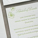 Magnolia Letterpress Wedding Invitation