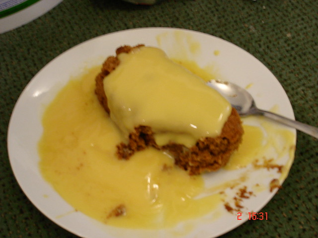Jamaican ginger cake with custard | Explore Fay Louise's pho ...