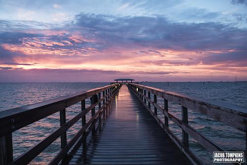 ocean sea sun water harbor wooden dock nikon florida safety fl rise d90