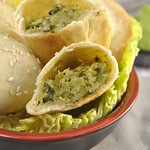 Mini Panzerotti with Savoy Cabbage and Chickpeas
