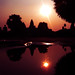 Small reflaction of Angkor Wat Sunrise by Pech Snap