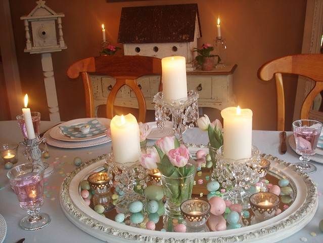 Easter decorating dining table centerpiece flickr