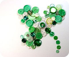 art, green, circle, button,