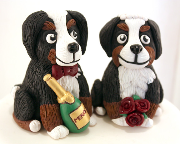 bernese mountain dog wedding cake topper amp groom burmese mountain wedding cake topper 11267