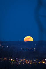 Super Moon rising at T.C.