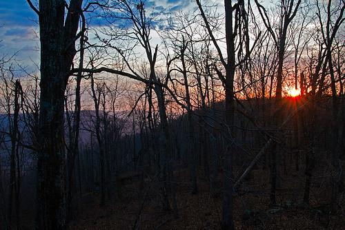 mountains arkansas sunrises