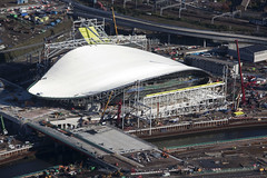 Aerial picture of Aquatics Centre at London Olympics