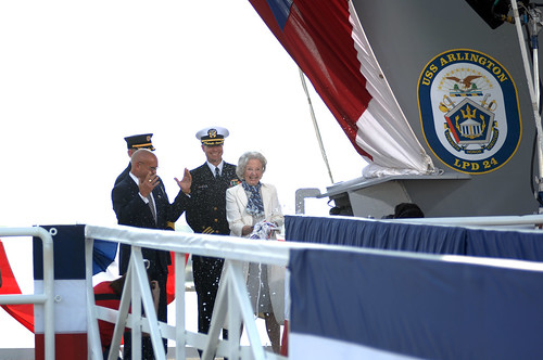 USS Arlington Christening