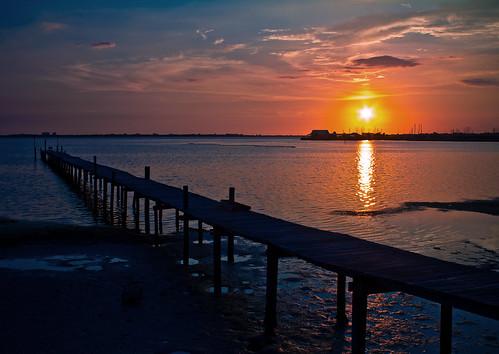 sunset landscape pier