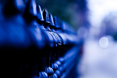 Patterns in blue and bokeh