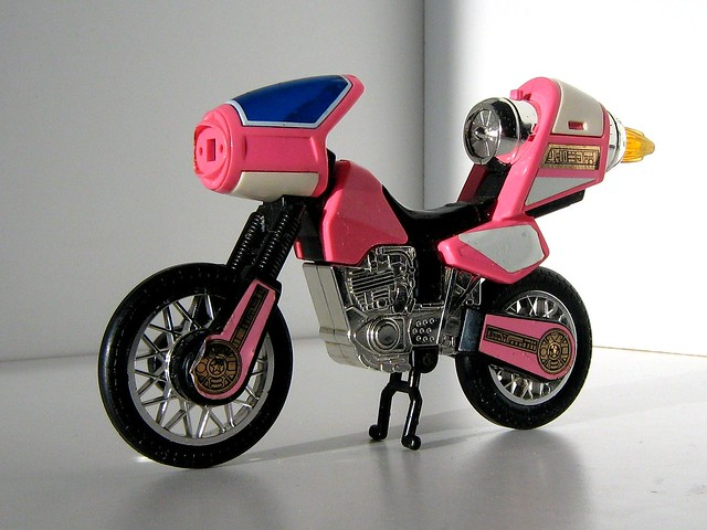 bandai toys mighty morphin power rangers kimberly hart 39 s motorcycle flickr photo sharing. Black Bedroom Furniture Sets. Home Design Ideas