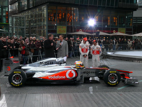 Lewis Hamilton and Jenson Button unveil new McLaren MP4-26 car for 2011 Formula One season