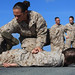 Female Marines Demonstrate Take Down and Restraint