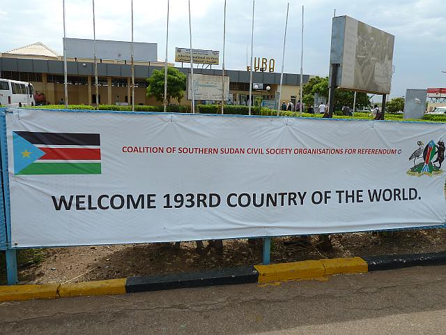 Sign at Juba airport 2