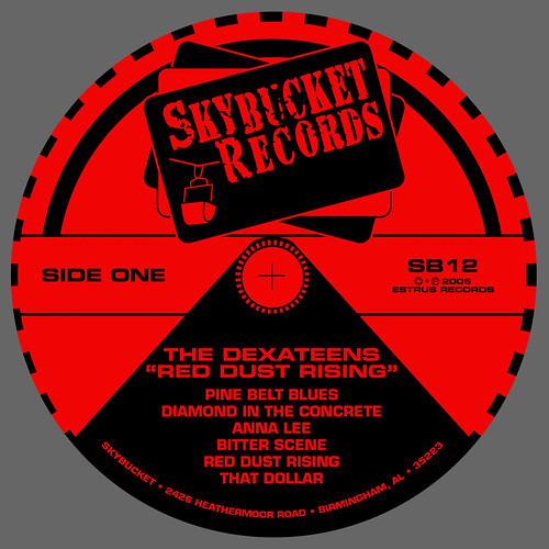 Dexateens - Red Dust Rising - LP Label (2005) by Jason Willis