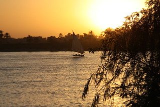 sunset luxor