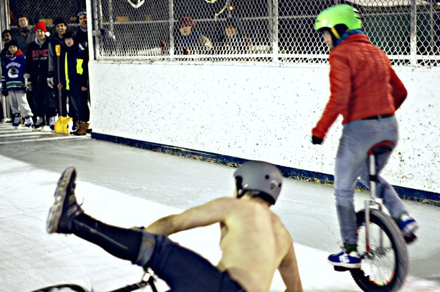 Sat, 02/12/2011 - 21:20 - Toronto Ice Race 2011. The Unicycle Won.
