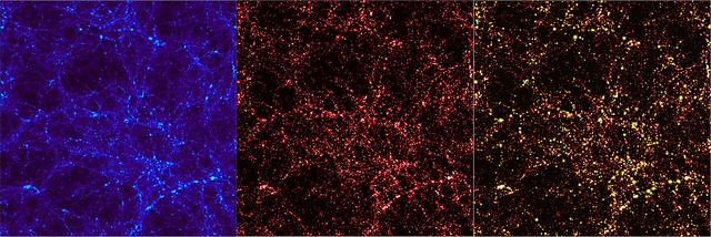 Desarrollo de la distribución de materia oscura