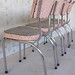 1950s Retro Pink Laminex Kitchen Chairs