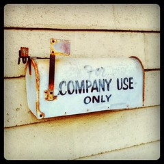 Mailbox for company use only