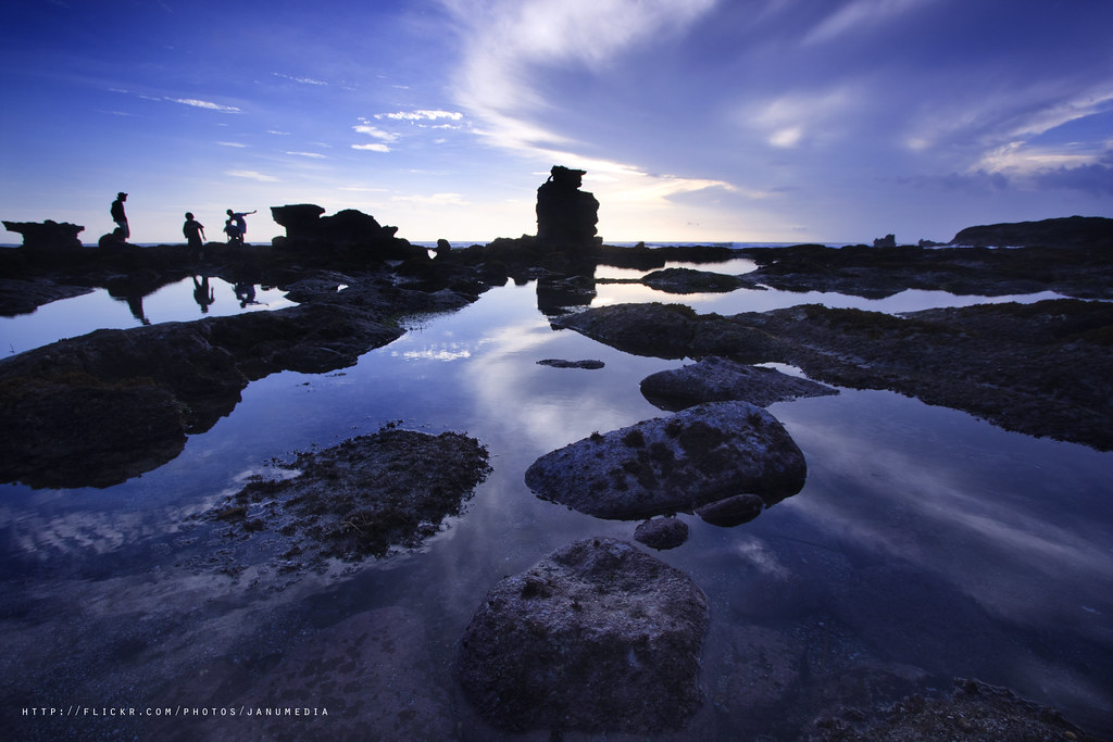 bali landscape image : Melasti Beach
