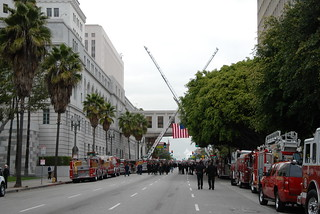 LOS ANGELES FIRE DEPARTMENT (LAFD) FIREFIGHTER GLENN ALLEN'S FUNERAL