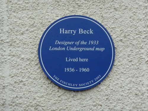 Harry Beck blue plaque sleepymyf