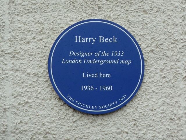 Photo of Harry Beck blue plaque